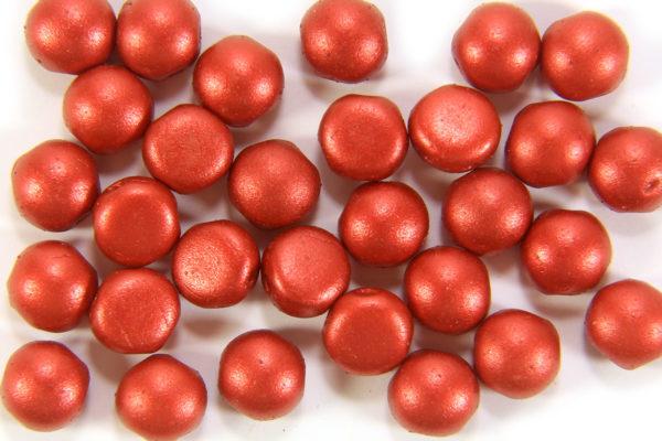 Satin Lava Red Preciosa Candy Beads