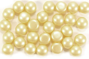 Satin Cream Preciosa Candy Beads
