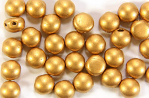 Satin Gold Preciosa Candy Beads