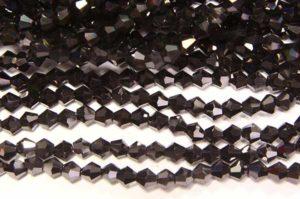 Metallic Charcoal Crystal Bicones
