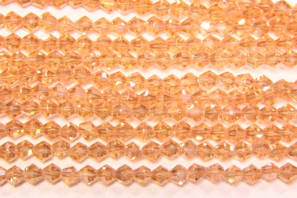 Pink Champagne AB Crystal Bicones