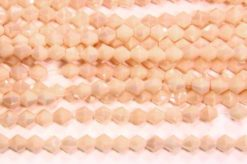 Opaque Peach Cream Crystal Bicones