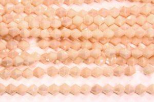 Opaque Peach Cream Crystal Bicones