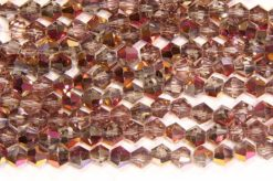 Demi Coated Violet Gold Crystal Bicones