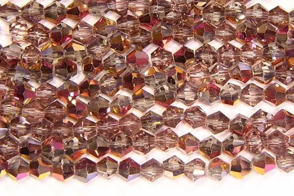 Demi Coated Violet Gold Crystal Bicones