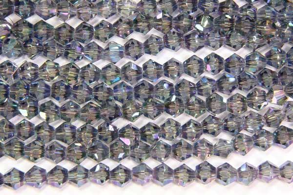 lustre Misty Green Crystal Bicones