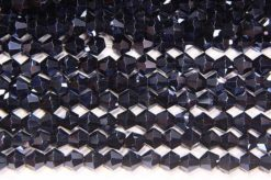 Metallic Midnight Blue Crystal Bicones