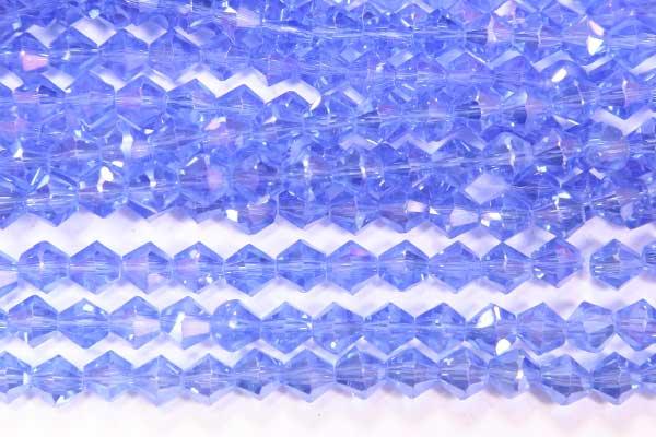French Blue AB Crystal Bicones