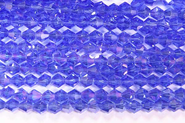 Montana Blue AB Crystal Bicones