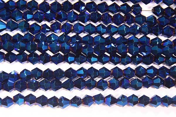 Electric Blue Crystal Bicones