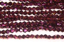 Mystic Purple Crystal Bicones