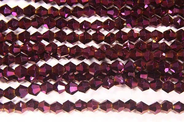 Mystic Purple Crystal Bicones