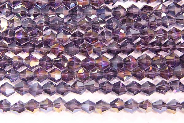 Deep Purple AB Crystal Bicones
