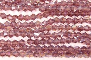 Light Amethyst AB Crystal Bicones