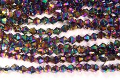 Metallic Rainbow Crystal Bicones