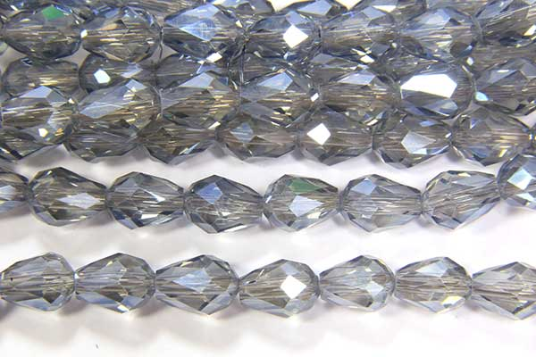 Lustre Dusty Blue Facetted Crystal Drops