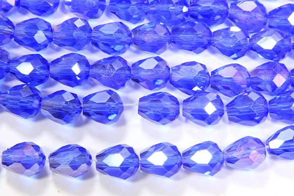 Royal Blue AB Facetted Crystal Drops