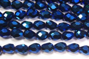 Electric Blue Facetted Crystal Drops