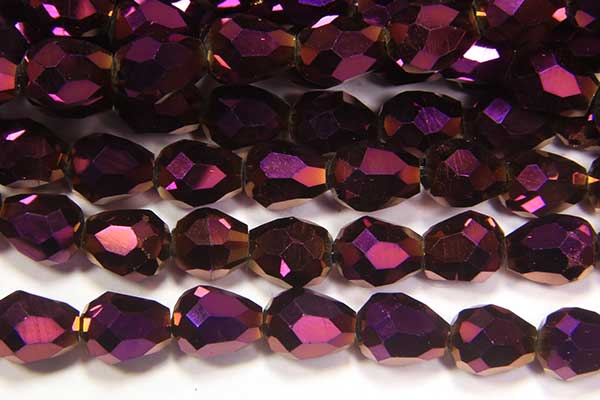 Electric Purple Facetted Crystal Drops
