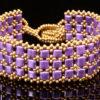 Golden Purple Times Square Bracelet Kit