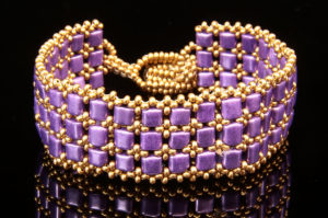 Golden Purple Times Square Bracelet Kit