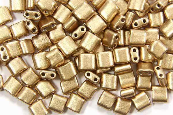 Satin Gold Mini Tiles