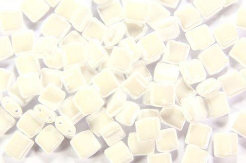 Double Lustre White Mini Tiles