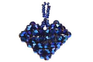 Electric Blue Love Heart Pendant Kit