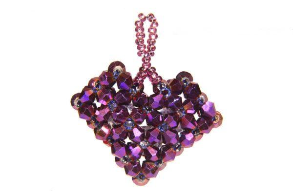 Mystic Purple Love Heart Pendant Kit