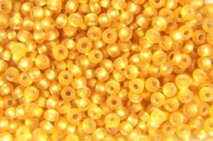 Frosted Silver Lined Gold Preciosa Seed Beads