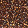 Silver Lined Dark Topaz Preciosa Seed Beads
