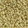 Metallic Gold Verdi Preciosa Seed Beads