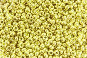 Metallic Pistachio Preciosa Seed Beads
