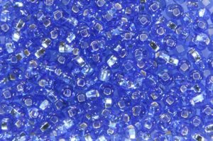 Silver Lined Blue Preciosa Seed Beads