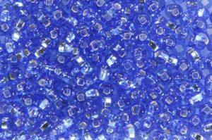 Silver Lined Blue Preciosa Seed Beads