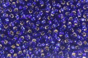 Silver Lined Sapphire Preciosa Seed Beads