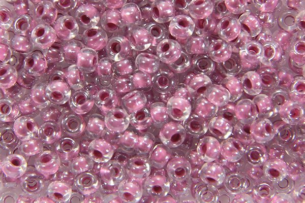 Colour Lined Rose Preciosa Seed Beads