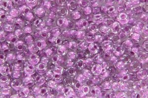 Colour Lined Orchid Preciosa Seed Beads