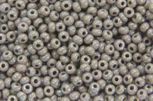 Rainbow Opaque Grey Preciosa Seed Beads