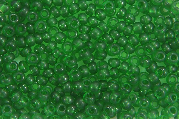 Frosted Holly Green Preciosa Seed Beads