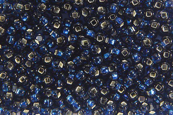 Silver Lined Navy Preciosa Seed Beads