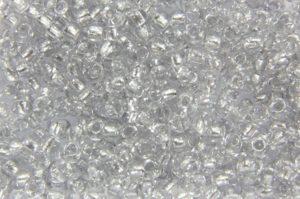 Silver Lined Grey Preciosa Seed Beads