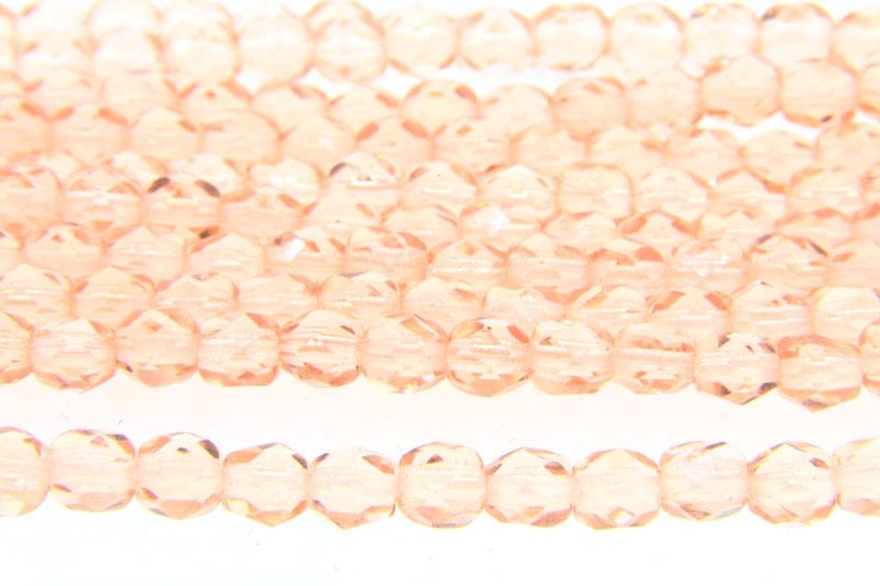 Transparent Pink Rosaline Czech Glass