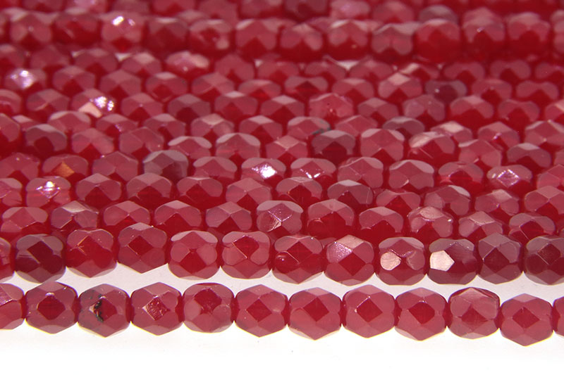Semi-Transparent Ruby Czech Glass