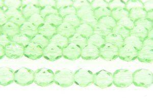 Transparent Baby Green Czech Glass