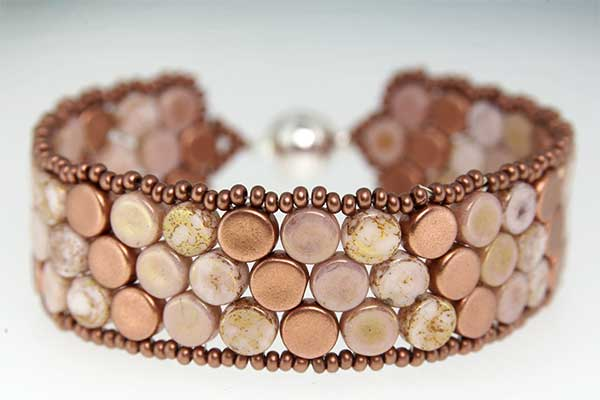 Copper Rose Mosaic Bracelet