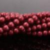 Crimson Satin Glass Pearls