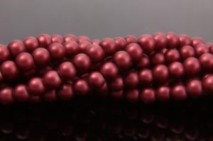 Crimson Satin Glass Pearls
