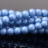 Cool Blue Satin Glass Pearls