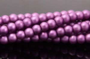 Lilac Satin Glass Pearls